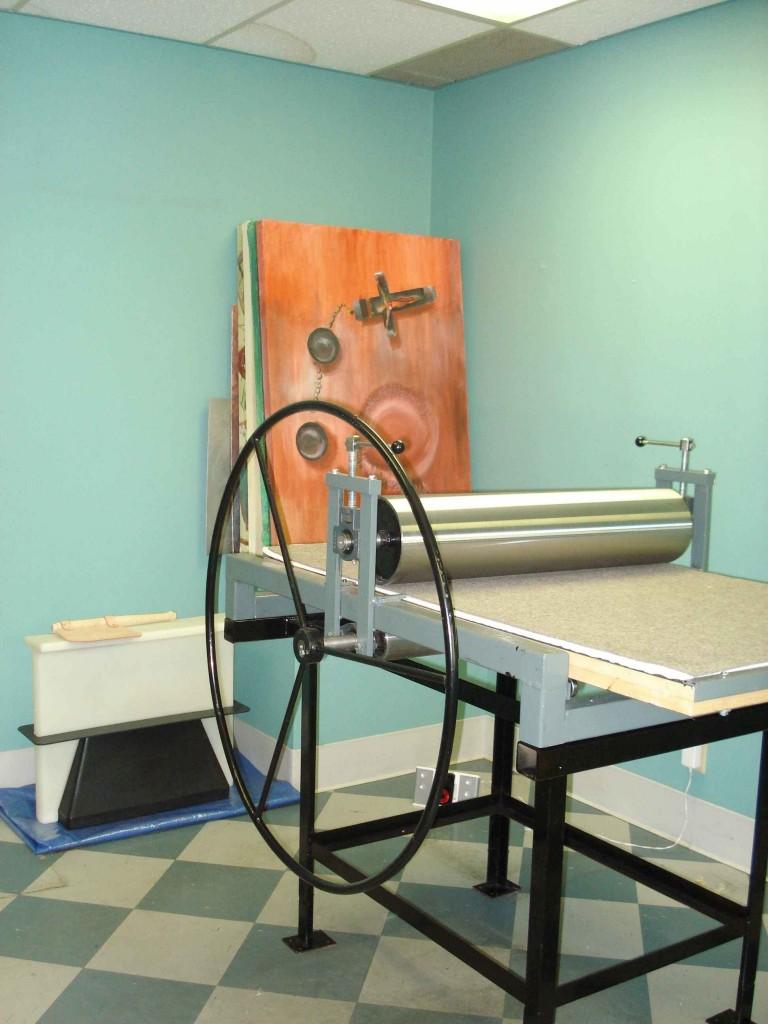 Printmaking Work Area