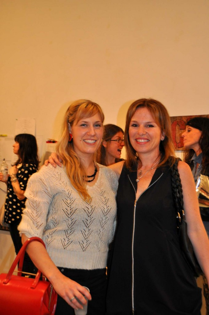 Occupy Exhibit Reception (Left to Right Alana Bartol, Collette Broeders)